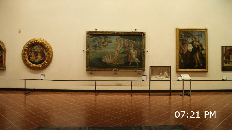 Uffizi night