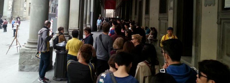 uffizi lines at door number 2